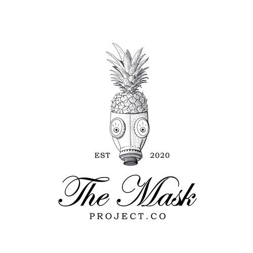 Vintage fun mask logo