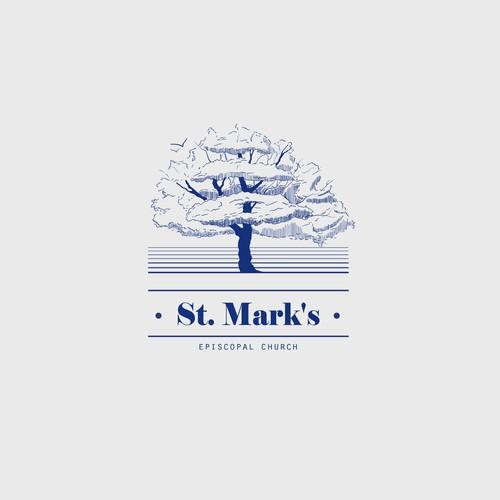 """Logo concept for """"St. Mark's""""."""