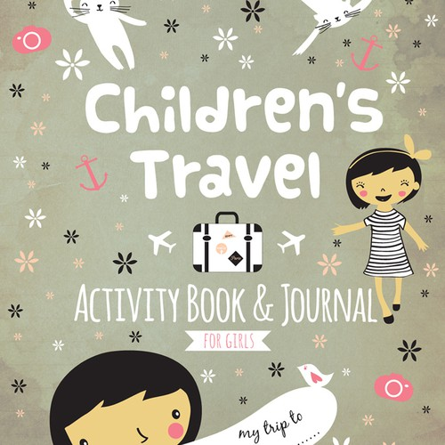 Create a fun, vibrant book cover for kids travel book