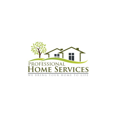 Create the next logo and business card for Professional Home Services