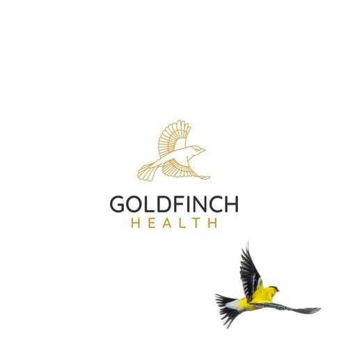 Goldfinch Bird Logo