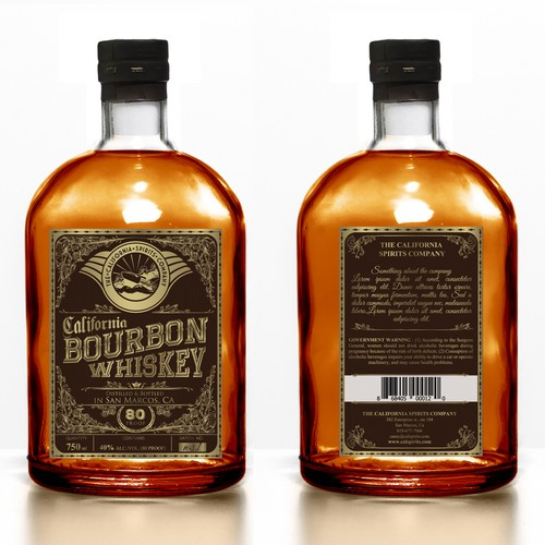 label for bourbon whiskey