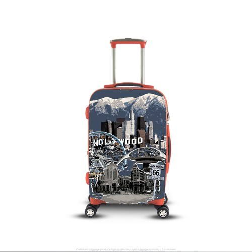 Los Angeles Theme Illustration for Luggage