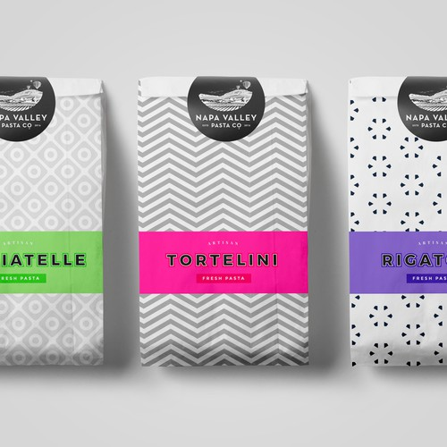 Geometric inspired pasta packaging