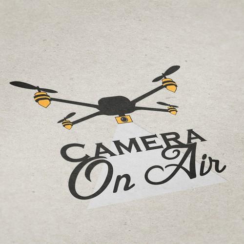 Up in the Air. Drohnenpilot braucht Logo