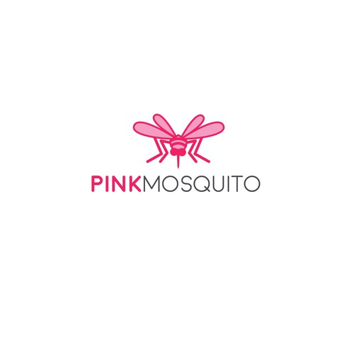 Design a cool new pink mosquito cartoon for our new logo.