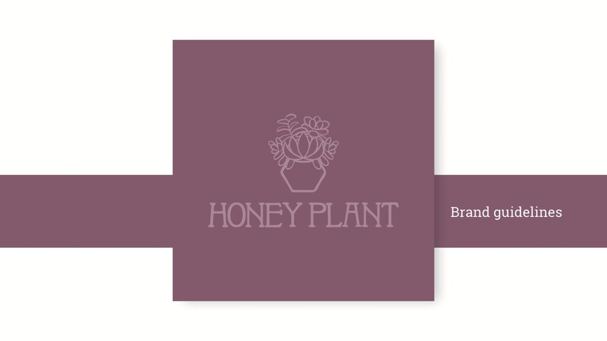 Honey Plant - Brand guid and Business card