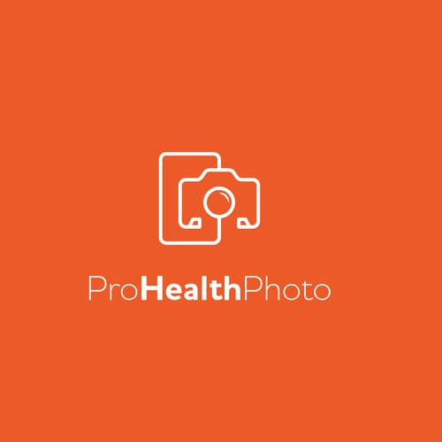 logo concept for a medical photo and video professionals