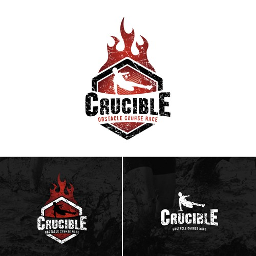 Create a hardcore design for Crucible obstacle course race.