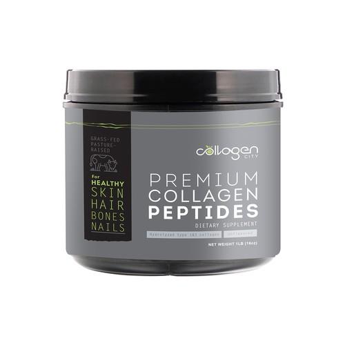 Premium Collagen Peptide Label Design