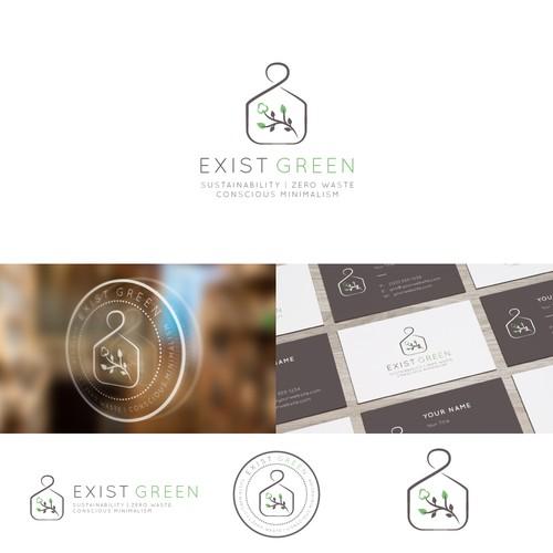 Minimalistic logo for zero waste retailer