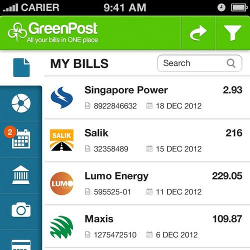 GreenPost: mobile app redesign