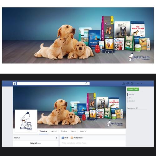 PetStream.com.au facebook cover photo for an ONLINE PET STORE.