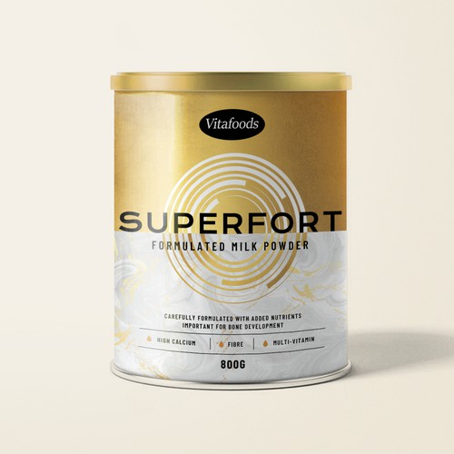 Packaging design for scientifically-formulated milk powder