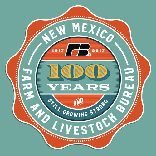 New Mexico Farm & Livestock Bureau 100 year logo