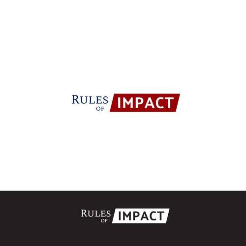 Logo design for Rules of Impact