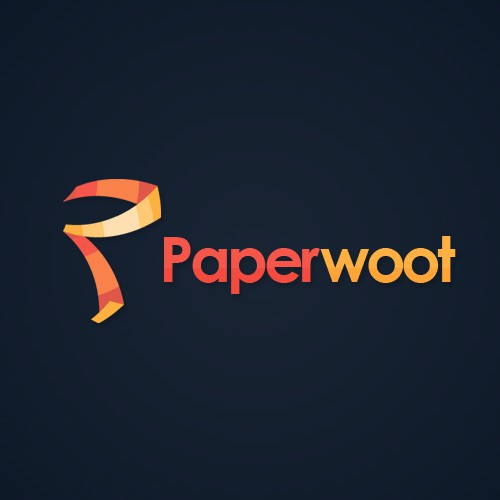 Create a modern/fun logo for Paperwoot