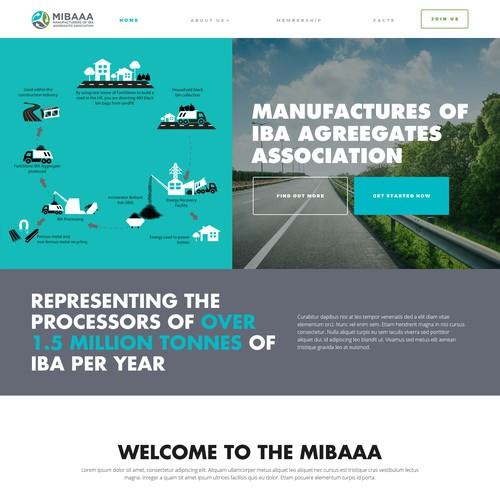 web design concept for Mibaa