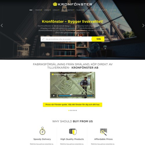 Web design concept for windows product.