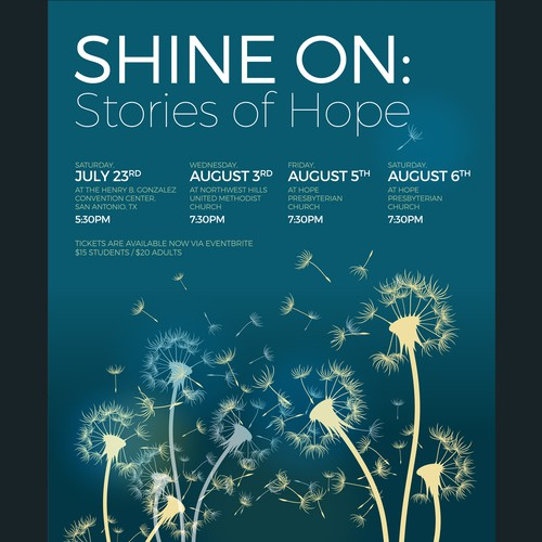 Youth Choir Concert Flyer: SHINE ON