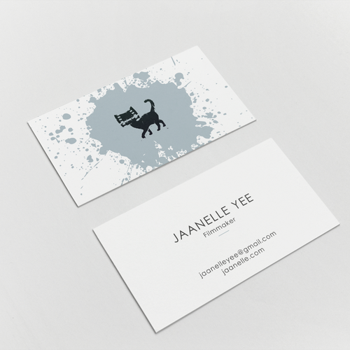 Clean and yet, Spunky Business Card for an Indie Filmmaker