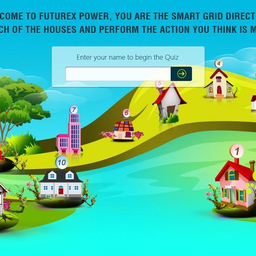 Simple 1 screen quiz app: GridCure Smart Grid Cartoon Quiz App