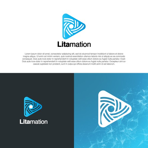 Abstract logo design for visualization animation company
