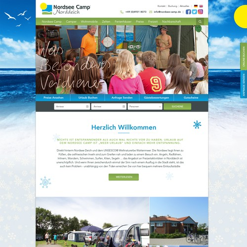 Web Design for Nordsee Camp