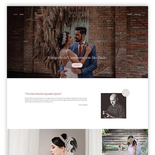 Squarespace Website Design for a Wedding Photographer