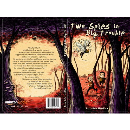 Children book cover illustration
