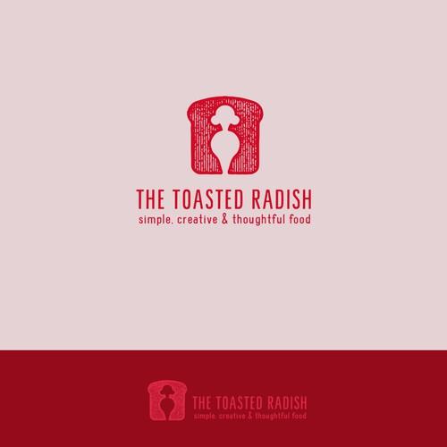 TOASTED RADISH logo design