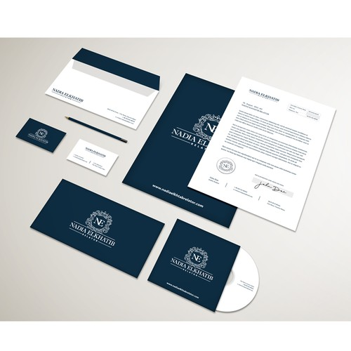 Logo and brand identity pack for Nadia Elkhatib