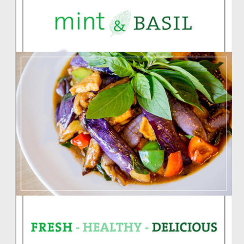 Menu Book for Mint & Basil