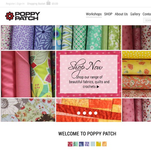 Patchwork & Quilt Co. Home Page Design