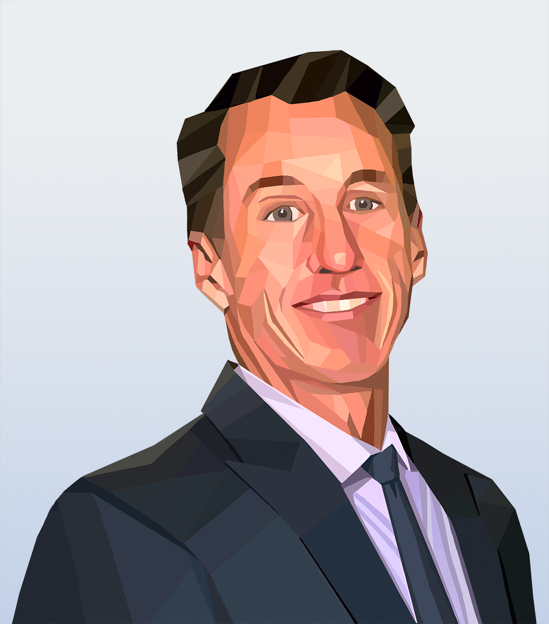 Wall Street Journal Hedcut Inspired Portraits for Team Page on Website