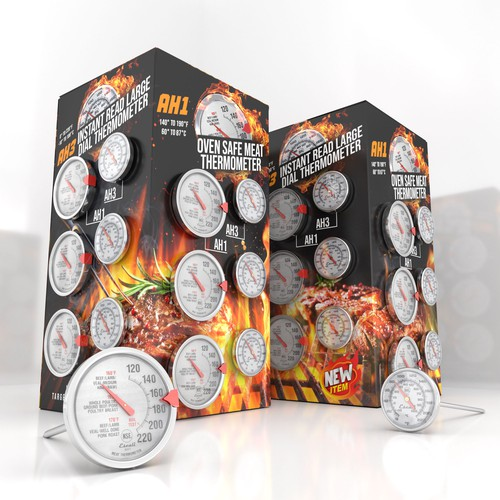 Thermometer display packaging