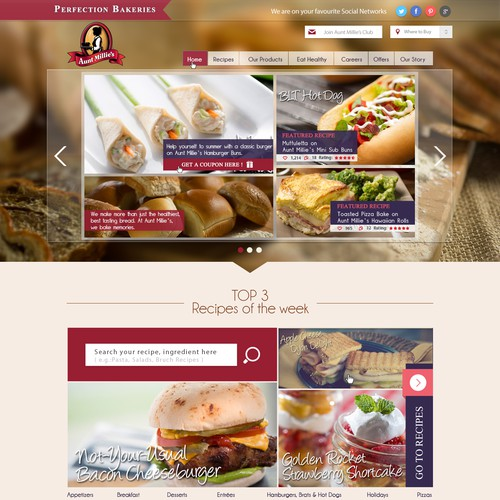 Create a clean and visually engaging page for a great bread company!