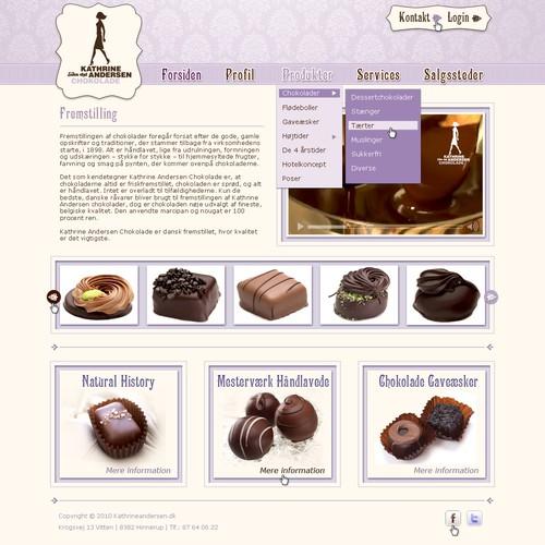 Chocolate web design