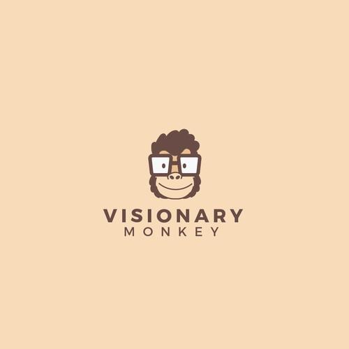 Simple logo design for visionary monkey