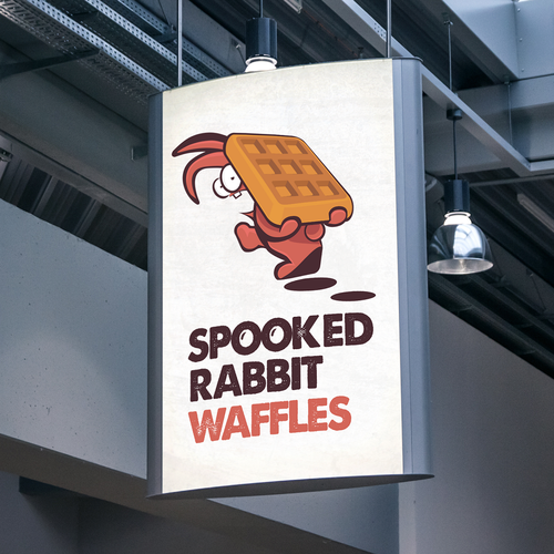 hipster, cool logo concept for waffle brand