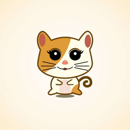 Design a CAT character similar to Hello Kity.