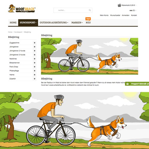Illustrations for woofshack.com