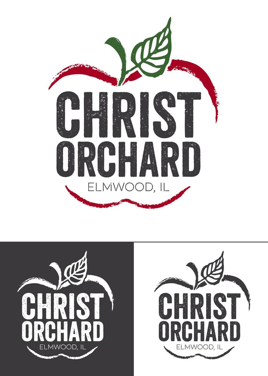 Create a classic farm fresh logo for apple orchard, Christ Orchard