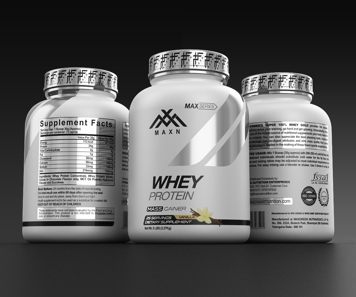 Need a dynamic product label for a sports supplements & nutrition