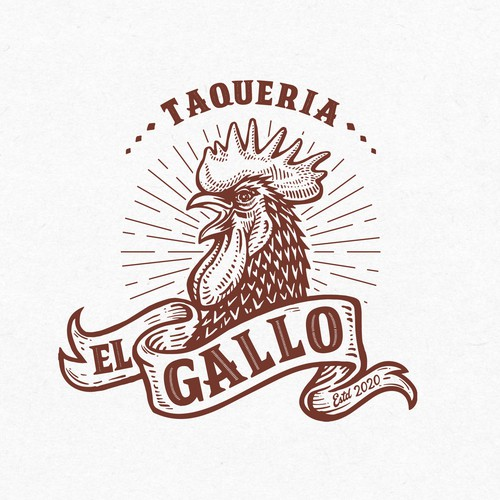 Logo design for El Gallo, Mexican restaurant