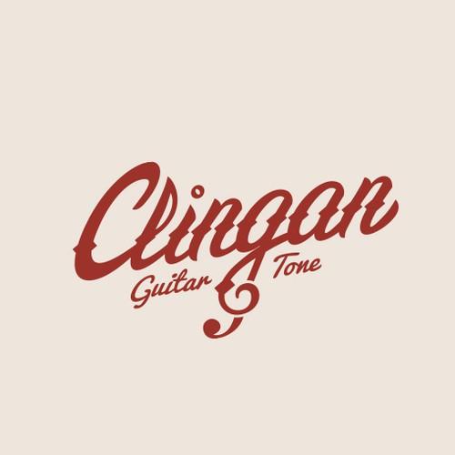 Classic logo for guitar-related establishment