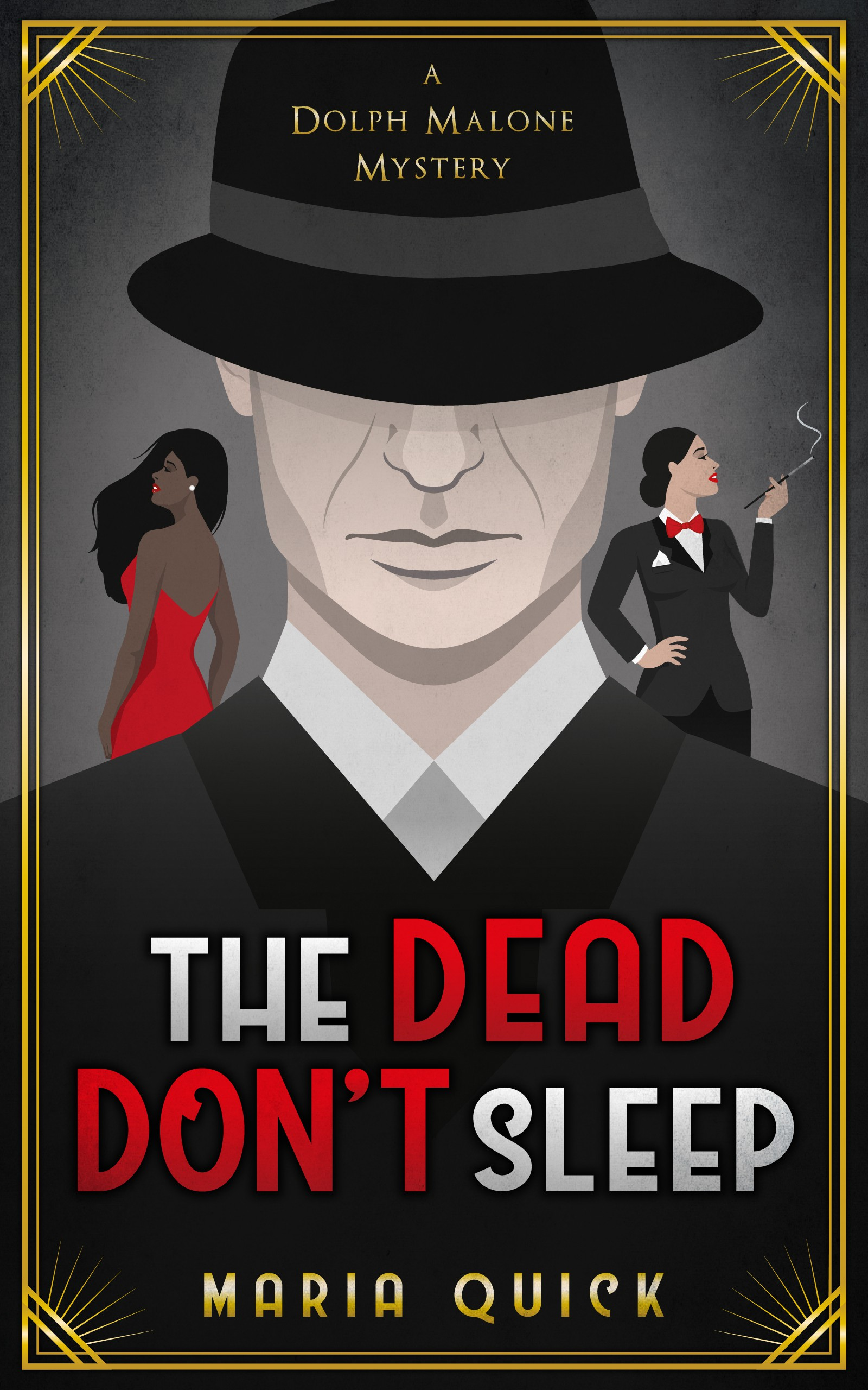 eBook cover for 1930s noir detective story with magic