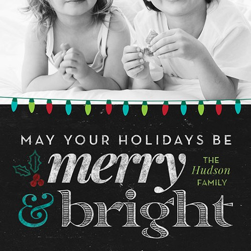 3 Front Cover Holiday Photo Greeting Cards
