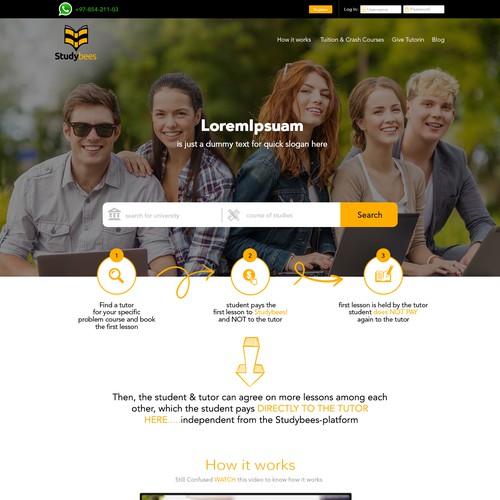 Simple design Landing page