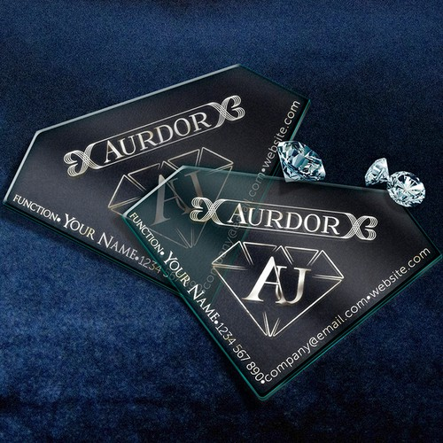 Business card for a Jewelry and Diamond seller.